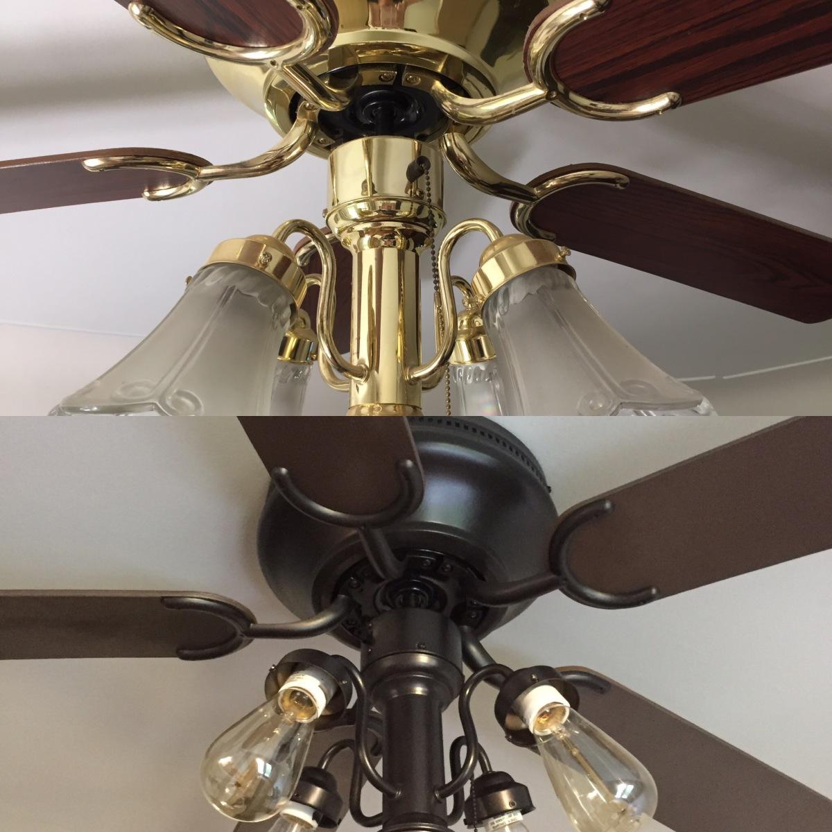 Ceiling fan makeover la rubita for Repurpose ceiling fan motor