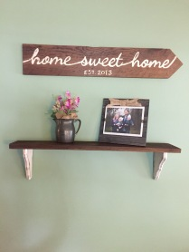 DIY Barn Wood Sign and Shelf