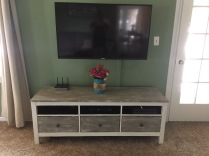 After: Entertainment Center Makeover