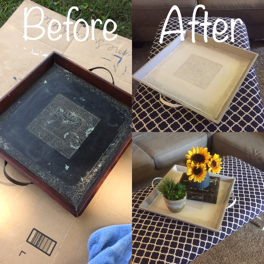Tray Coffee Table Makeover